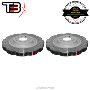 DBA T3 4000XD WAVE SERIES DRILLED/DIMPLED REAR ROTORS PAIR FIT   AUDI S3 8P 8V