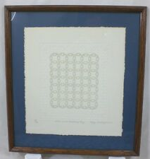 Mary Rutherford Embossed Framed Quilt Print DIAMOND WEDDING DAY Signed Numbered