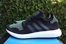 ADIDAS SWIFT RUN PK SZ 14 BLACK GREEN WHITE PRIMEKNIT RUNNING SHOE CG4110