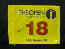 Jack Nicklaus Signed 2005 Open Championship Flag Adding 1966 70 78 British Open