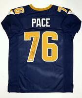 Orlando Pace Autographed Navy Blue Pro Style Jersey With HOF- JSA Witnessed Auth