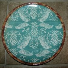 "Set of (5) NAUTICA ""HOME"" Pineapple/ Bamboo 11"" Dinner Plates (100% Melamine)"