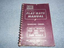 1960-61 GMC TRUCK FLAT RATE LABOR MANUAL 550 thru 9000 D860 MODELS X-6136 OEM
