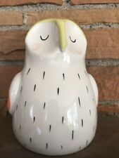 Anthropologie Owl Bank Piggy Bank Mid Century Style Nursery Baby Bank