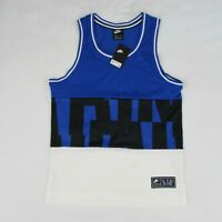 Nike NSW Air Mesh Basketball Jersey Tank Top Blue & White Size Small AR1843-451