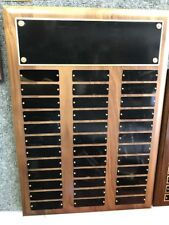 Employee of the Month/Perpetual Plaque 36 Plates FREE Engraving