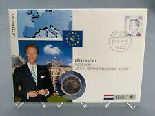 2 Euro Numisbrief Luxemburg - Wappen des Großherzogs Henri 2010 Eiamaya
