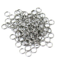 Packung 100 Stück Sprengringe rund Split Ring rostfrei Edelstahl 6mm Angeln LEM