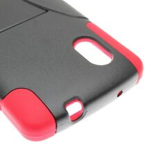 For LG Google Nexus 5 Red Black Case Hybrid Stand Heavy Duty Cover