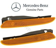 Mercedes S211 W211 Pair Set of 2 Front Turn Side Signal Lights In Bumper Genuine