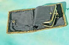 VTG Vintage Gold Tone Mesh Ladies Coin Purse inside Billfold Wallet FREE SHIP!