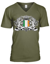 Ireland Coat of Arms Lions Irish Pride Rugby Soccer Football Mens V-neck T-shirt