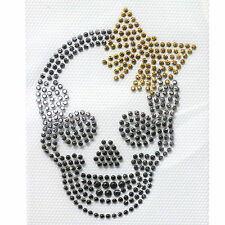 3 sheets Transfer Hot fix Fashion Accessories Design Mini Skull