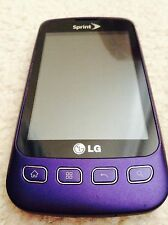 Sprint LG Optimus S Purple Android