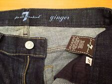 AUTHENTIC 7 FOR ALL MANKIND GINGER FLARE LEG WOMEN JEANS SZ 27 X 28.5 VIC-THOR1