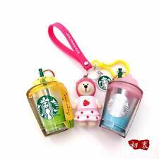 2020 China Starbucks Cute Sakura Strawberry Bear Hangings Keychain Birthday Gift