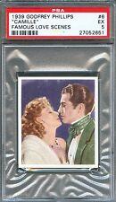 1939 Famous Love Scenes Card #6 Camille GRETA GARBO Robert Taylor PSA 5