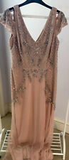Adrianna Papell Maxi Dress Pink Size 18