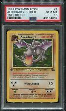PSA 10 Aerodactyl Holo First Edition #1 1999 Fossil Rare Pokemon #1768