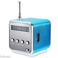 portátil MICRO TF USB Mini Estéreo Bajo Altavoz Música Reproductor FM Radio PC