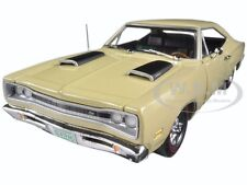 1969 DODGE CORONET SUPER BEE Y3 CREAM 1/18 & 1/64 2 PACK BY AUTOWORLD AMM1094