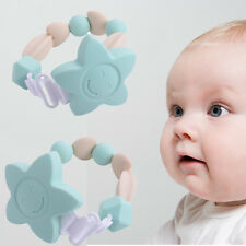 BPA-Free Teether Bracelet Hard/Soft Teething Toy Baby Feed Play Mouth Bite Cool