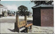 LOVELY VERY EARLY VINTAGE POSTCARD,THE STOCKS NEAR RUGBY,WARWICKSHIRE.