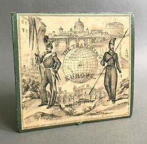 1st Edition The Travellers of Europe Game w/ Folding Map Board  Wm. Spooner 1842