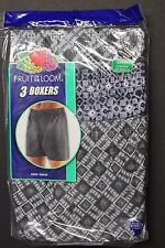 3 Pack Men's FRUIT OF THE LOOM Boxer Brief Small 30-32 PLAIDS  3