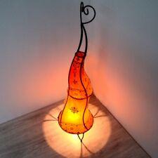 Orientalische Hennalampe Stehleuchte Orient Lampe Marokko Lederlampe LSCH_O H80