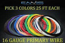 16 GAUGE WIRE ENNIS ELECTRONICS 25 FT EACH PRIMARY CABLE AWG COPPER CLAD 3 ROLLS