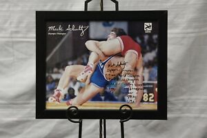 Autographed and Framed Mark Schultz Poster