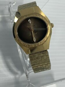 Vintage 1976 - Men's BULOVA Imperial Diamond Accent Watch, Mechanical, 17 Jewels