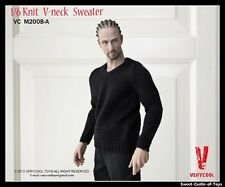 1/6 VeryCool Accessory Set - Male Knit V-Neck Sweater Black Ver. VC2008-A
