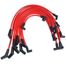 10.5 MM Red Racing Spark Plug Wire Kit Set for Ford Lincoln Mercury 5.0L 5.8L