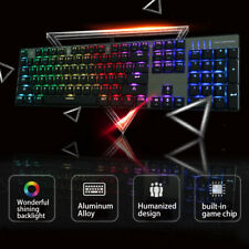 Motospeed Inflictor Backlit Mechanical RGB LED CK104 Keys Wired Gaming Keyboard