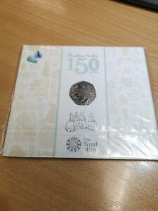 Beatrix Potter Sealed 50p Royal Mint 1866 - 1943 P000850_8a+b+c