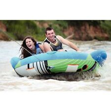 """Hydroslide Thrust Inflatable Water 66"""" Wing Tube 2 Rider Boat Tow Towable CT668"""