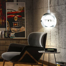 LED boule suspension lampe chrome salon éclairage plafonnier lampe claire neuf