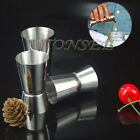 3PC Drink Bar Party Jigger Single Double Shot Cocktail Wine Short Measure Cup