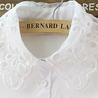Women False Collar Fake Half Shirt Blouse Vintage Detachable Lace Collars Bib S