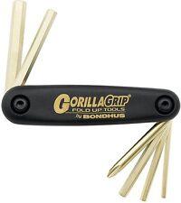 Bondhus 12594 Cycle Buddy GorillaGrip Fold Up Set Metric Hex 3-8mm