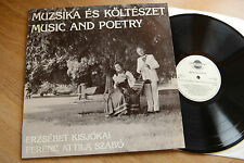 ERZSEBET KISJOKAI & FERENC  SZABO Music And Poetry  rare LP P-B records 0001