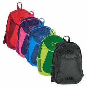Highlander Dublin Daysack Colourful Backpack Rucksack Holiday Hiking School Bag