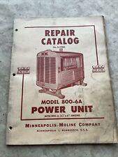 Minneapolis Moline 800 6a Engine Parts Manual