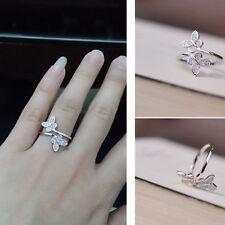925 Sterling Silver Open Rings Adjustable Finger Toe Butterfly Jewellery Gift