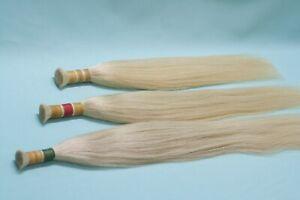 Platinum blond. Natural REMY bulk hair. Hair Extensions + keratin encapsulation
