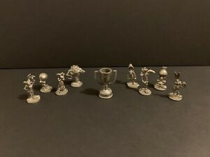 1999 Looney Tunes Monopoly Pewter Game Pieces Replacement Tokens Movers & Trophy
