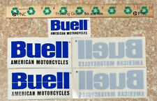 Buell (3)Stickers And (2)Window Decals Different Sizes
