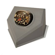 Championship Baseball Ring Display (Gray) Youth Sports trophy shelf must have!